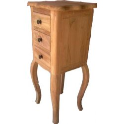 Teak Pedestal 'Chaam' met 3 laden