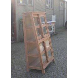 Vitrinekast met 2 glazen deuren