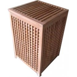 Teak Wasmand 'Laundry basket' 60 cm hoog